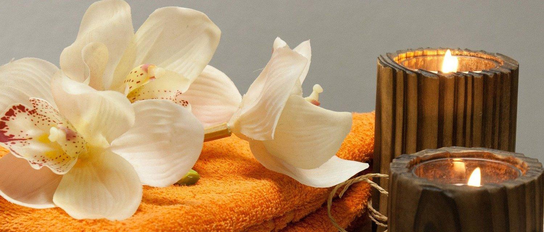 Kerzen Orchydee Entspannung Erlebnistherme